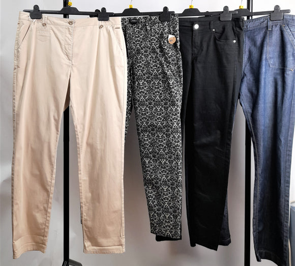 Women's Clothes Bundle 4 Assorted Trousers Inc. H&M Size 16