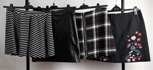 Women's Clothes Bundle 4 Assorted Skirts Inc. River Island, Dorothy Perkins Size 12