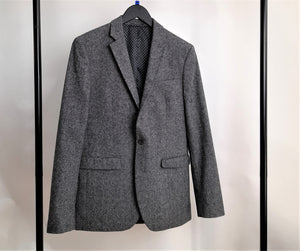 Men's Grey Woolen Blazer Size 38