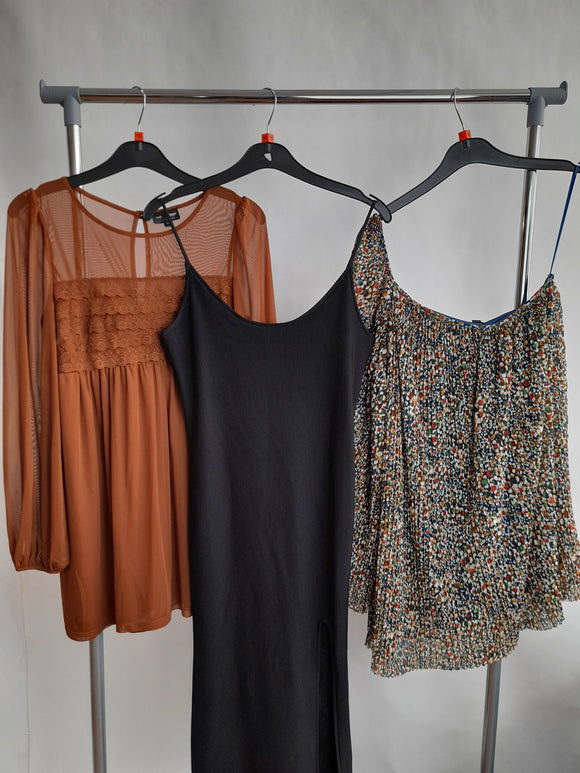 Women's Clothes Bundle 3 Assorted Topshop Dresses Size 10