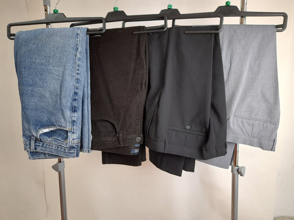 Men's Clothes Bundle 4 Assorted Trousers Size 36