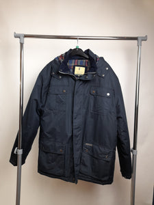 Men's Country Estate Navy Winter Coat Size Medium