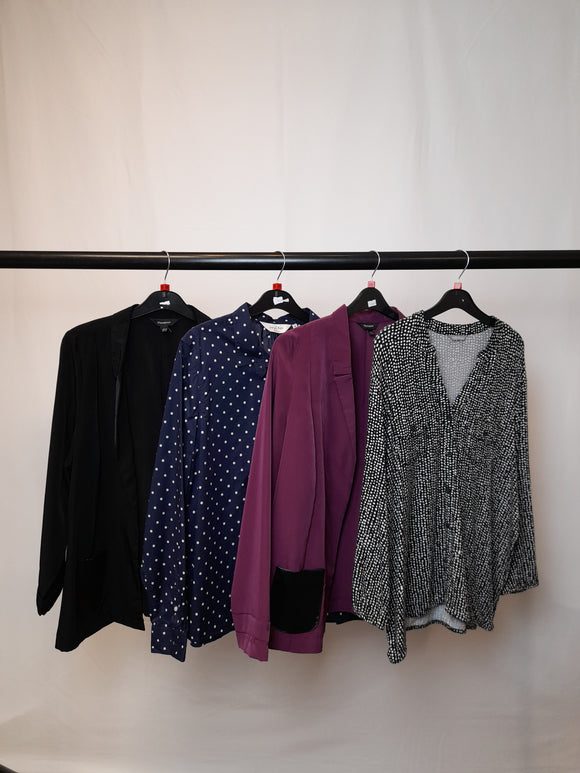 Women's Clothes Bundle 4 Assorted 2 Blouses and 2 Blazers Size 18