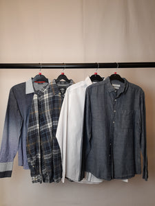 Men's Clothes Bundle 4 Assorted Shirts inc. H&M Size Small