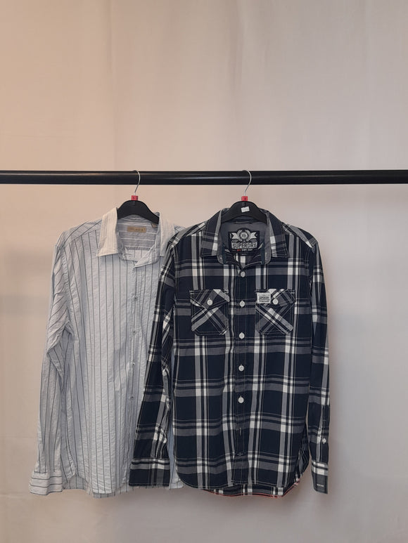 Men's Clothes Bundle 2 Assorted Shirts inc. Superdry and Ted Baker Size Small