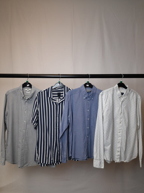 Men's Clothes Bundle 4 Assorted Shirts Inc. H&M Size Medium