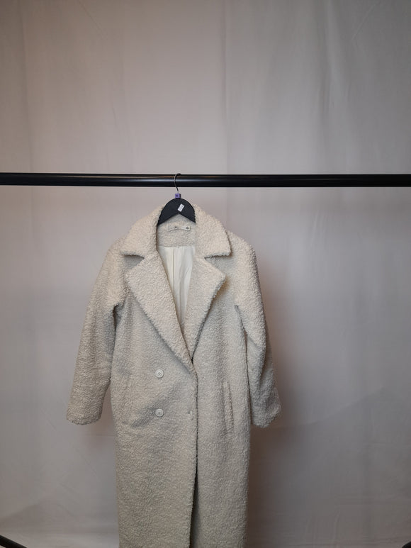 Women's Missguided White Coat Size 8