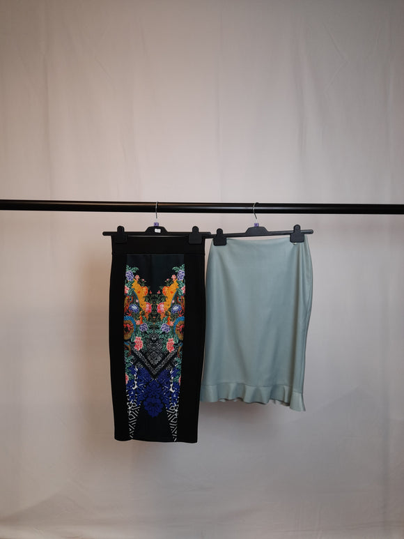 Women's Clothes Bundle 2 River Island and Mango Knee Length Skirts Size 8
