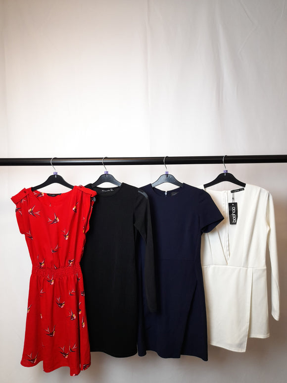 Women's Clothes Bundle 4 Assorted Dresses inc. Topshop and New Look Size 8