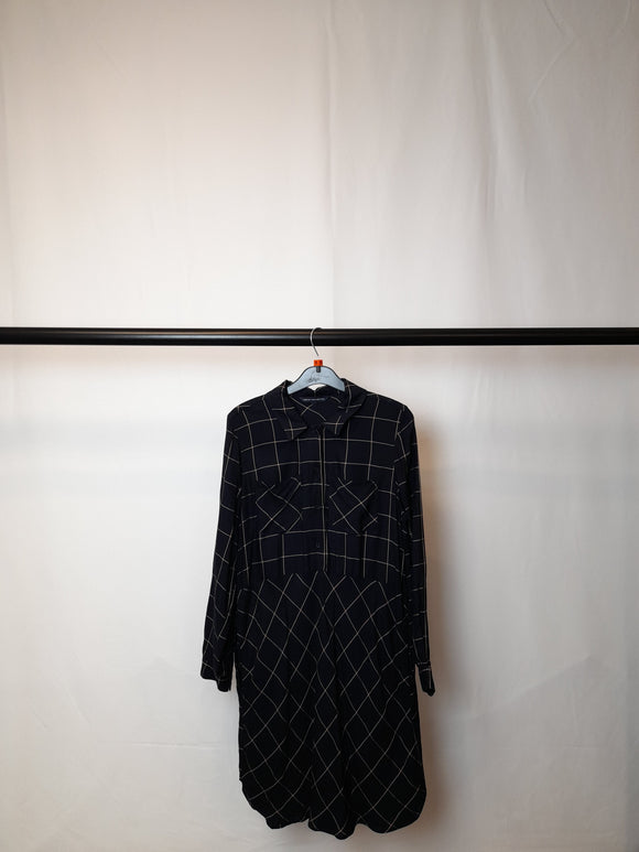 Women's French Connection Blue Checkered Dress Size 10