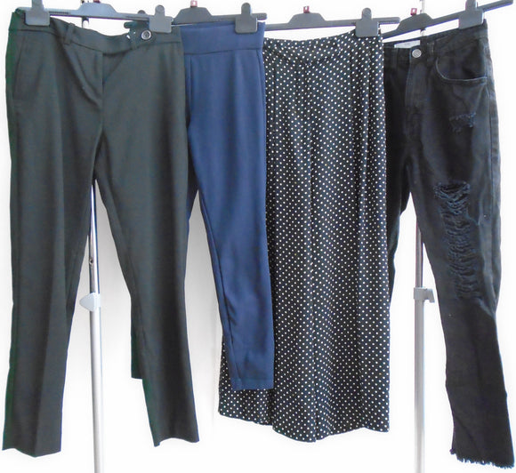 Women's Clothes Bundle - 4 Assorted Trousers - Size 6