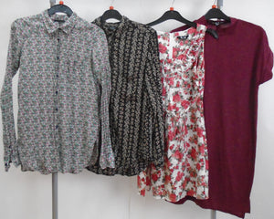 Women's Clothes Bundle - 4 Assorted Tops- Size 10
