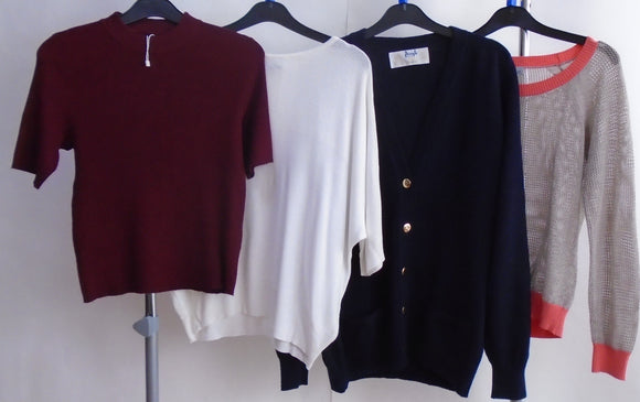 Women's Clothes Bundle - 4 Assorted Jumpers- Size Large