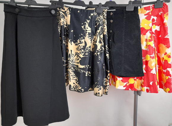 Women's Clothes Bundle 4 Assorted Skirts Size 8