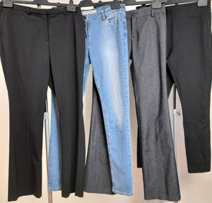 Women's Clothes Bundle 4 Assorted Trousers Size 12