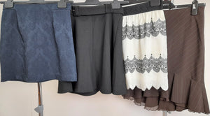 Women's Clothes Bundle 4 Assorted Skirts Size Small