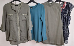 Women's Clothes Bundle 4 Assorted Tops Size Large