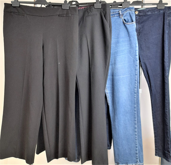 Women's Clothes Bundle 4 Assorted Trousers Size 20
