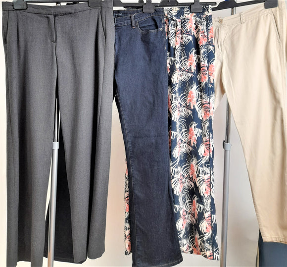 Women's Clothes Bundle 4 Assorted Trousers Size 14