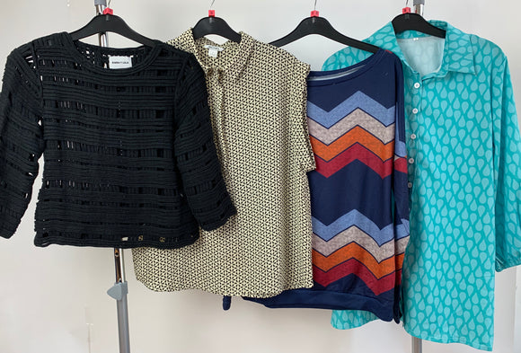 Womens Clothes Bundle - 4 Assorted Tops- Size Small
