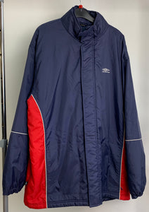Men's Umbro Navy and Red Sportswear Coat Size XL