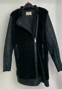 Women's Zara Coat with Faux Fur Size Small