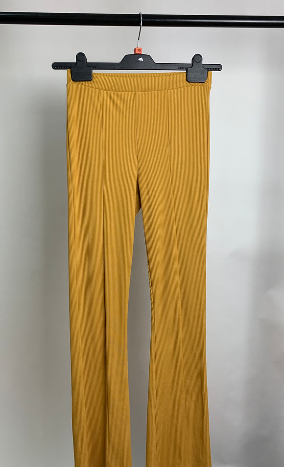 Women's Miss Selfridge Mustard Trousers Size 10