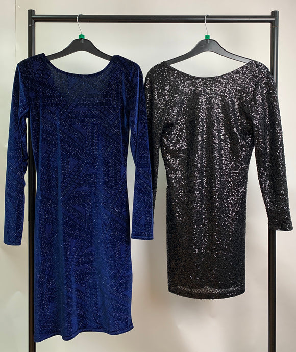 Women's Clothes Bundle 2 Assorted Glitter Sparkle Dresses Size 12 inc. H&M