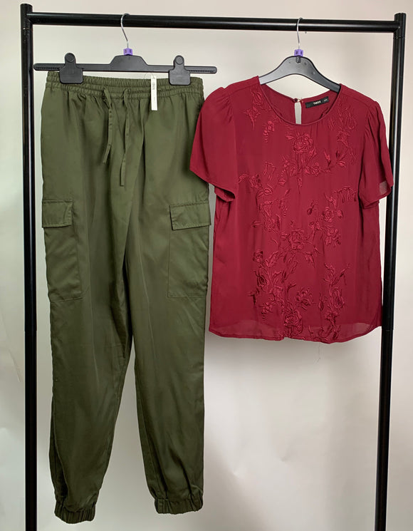 Women's Clothes Bundle ASOS Trouser and Oasis Top Outfit Size 8
