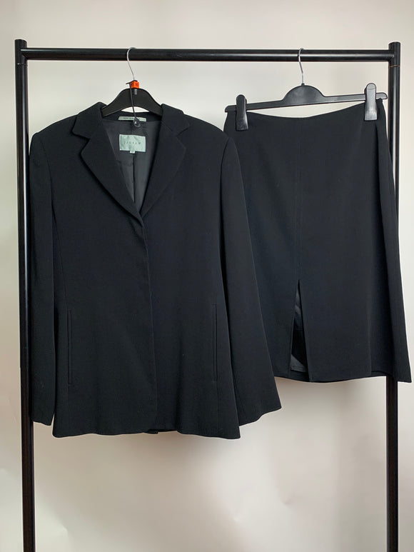 Women's Clothes Bundle Jigsaw Black Suit Blazer and Skirt Size 10