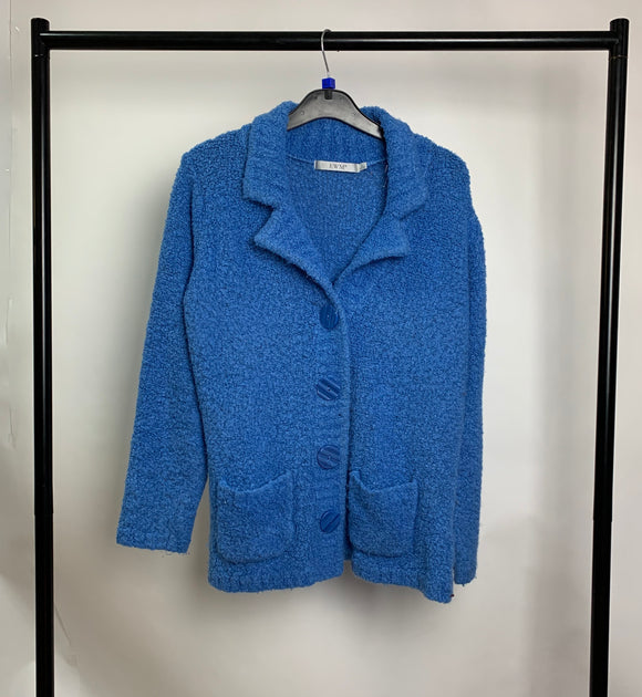 Women's Edinburgh Woolen Mill Blue Cardigan Size Large