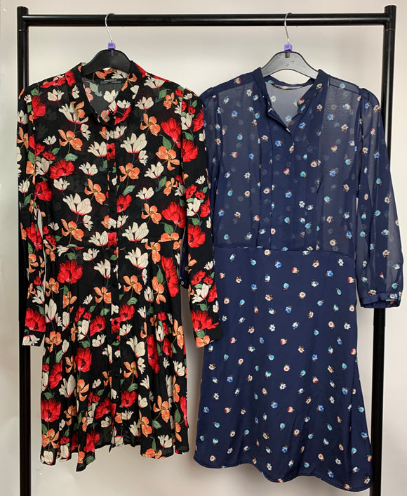 Women's Clothes Bundle 2 Zara Floral Dresses Size XS