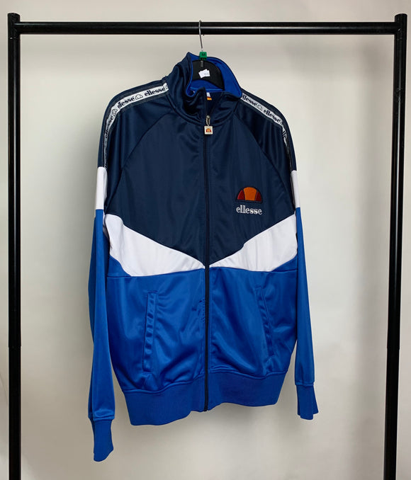 Men's Ellesse Blue and White Jacket Size Medium