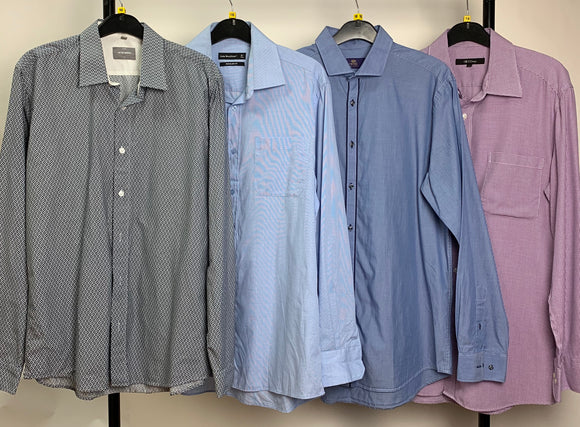 Men's Clothes Bundle 4 Assorted Shirts inc. Peter Werth and Next Neck Size 16