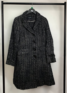 Women's Debenhams Chequered Overcoat Size 12