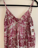 Women's Sugar Clothing Pink Distressed Floral Maxi Dress Size 10