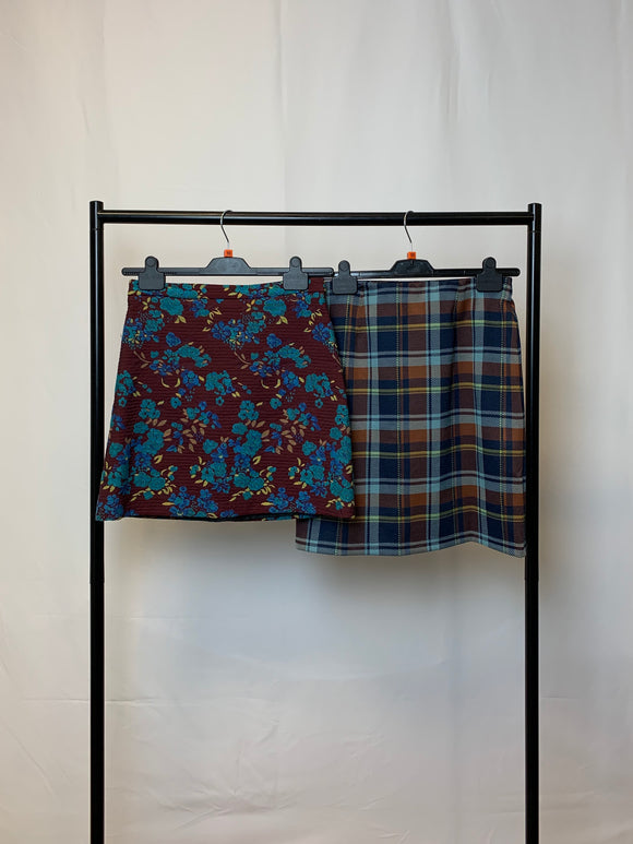 Women's Clothes Bundle 2 Print Skirts Topshop and M&S Size 10