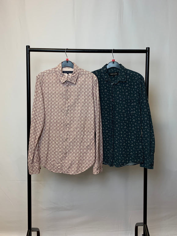 Men's Clothes Bundle 2 Shirts River Island and French Connection Size Small