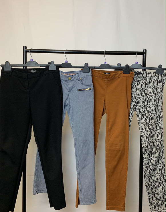 Women's Clothes Bundle 4 Assorted Trousers inc H&M Size 8