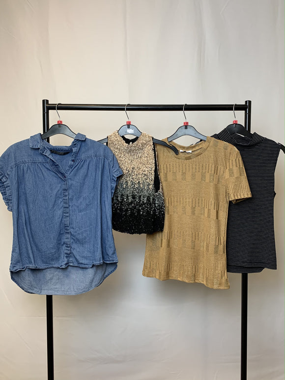Women's Clothes Bundle 4 Assorted Tops inc Zara Size Small