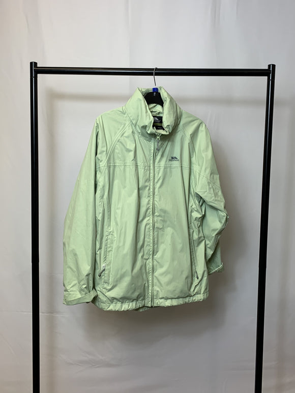 Women's Mint Green Trespass Waterproof Coat With Hood Size Large