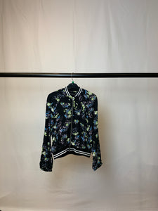 Women's Floral Lightweight Bomber Jacket Size 12