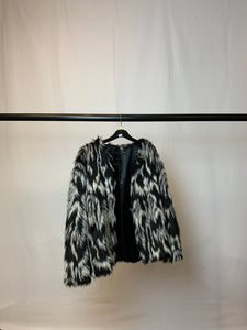 Women's H&M Faux Fur Jacket Size 16