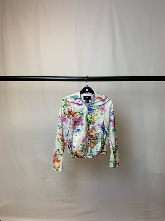 Women's H&M Lightweight Floral Bomber Size 8