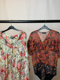 Women's Clothes Bundle 2 Zara Floral Tops Size Medium