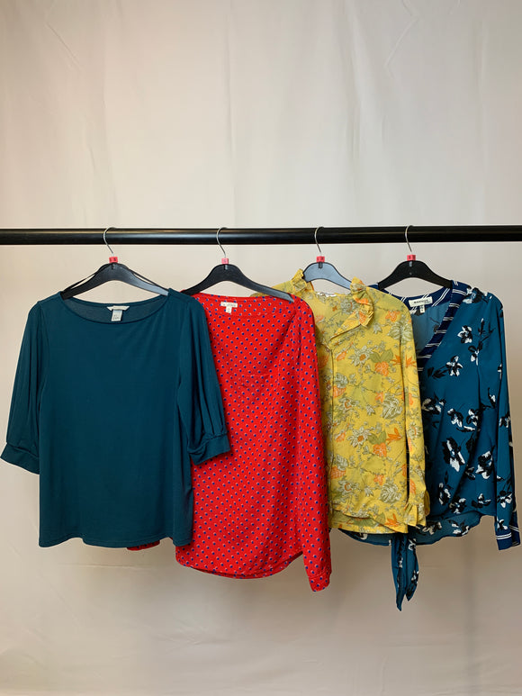 Women's Clothes Bundle 4 Assorted Tops inc. H&M and Monteau Size Small