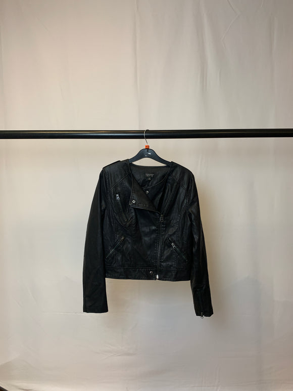 Women's Tosphop Faux Leather Cropped Jacket Size 10
