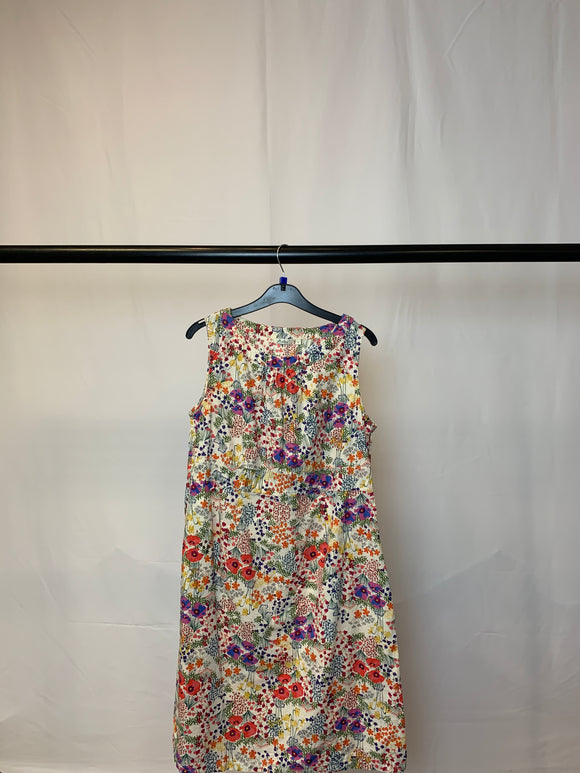 Women's Adini Floral Knee Length Dress Size Large