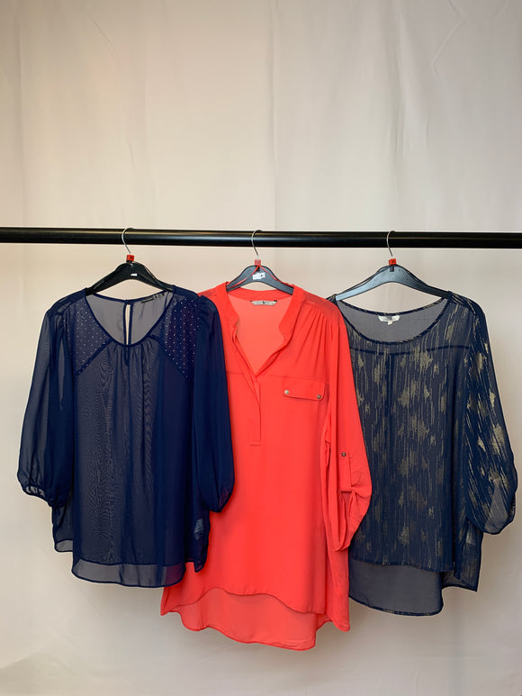 Women's Clothes Bundle 3 Assorted Tops Size 18