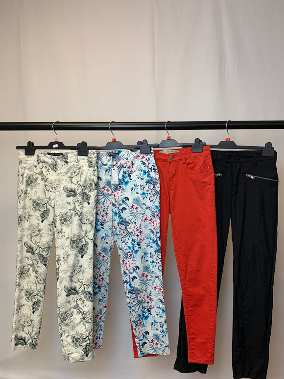 Women's Clothes Bundle 4 Assorted Trousers inc. Warehouse and Zara Size 10